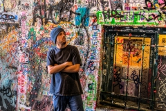 Gum Wall Visitor